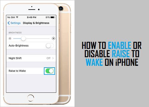 Cómo habilitar o deshabilitar la función Despertar en el iPhone