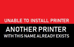 No se puede instalar la impresora. Ya existe otra impresora con este nombre