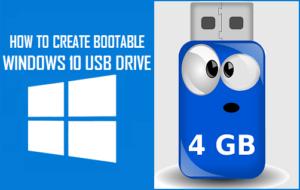 Cómo crear una unidad USB de Windows 10 de arranque