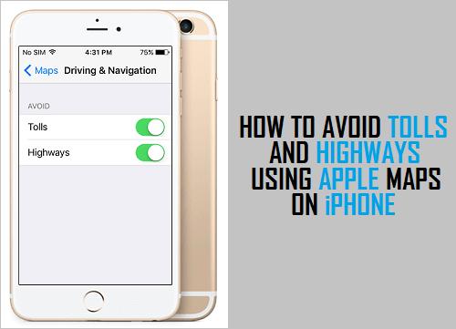 Cómo evitar peajes y carreteras utilizando Apple Maps en el iPhone