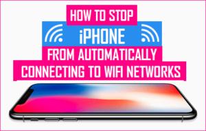 Cómo evitar que el iPhone se conecte automáticamente a redes WiFi