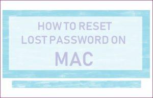 Cómo restablecer la contraseña en Mac