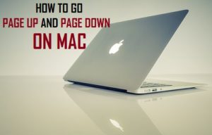 Cómo subir y bajar páginas en Mac