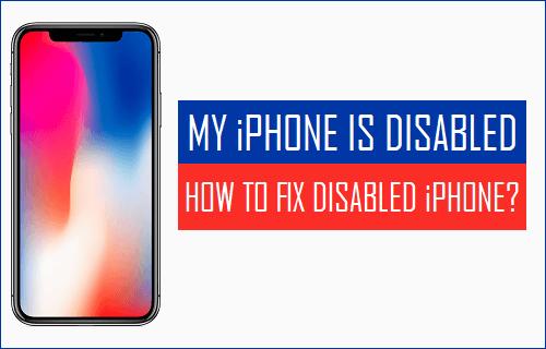 MI Iphone está desactivado, como solucionarlo?