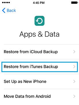 Configurar de nuevo el iphone