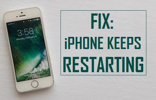 Corrección: iPhone mantiene el problema de reinicio