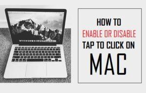 Cómo activar o desactivar Pulse para hacer clic en Mac