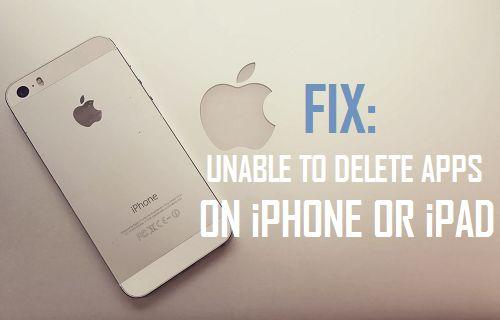 No se pueden eliminar aplicaciones en iPhone o iPad