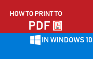 Cómo imprimir a PDF en Windows 10
