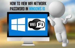 Cómo ver la contraseña WiFi en Windows 10