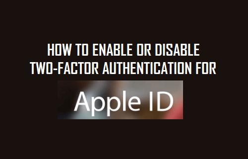 Cómo activar o desactivar la autenticación de dos factores para el ID de Apple