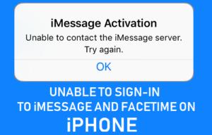 No se puede iniciar sesión en iMessage y FaceTime en iPhone