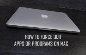 Cómo forzar la salida de aplicaciones o programas en Mac