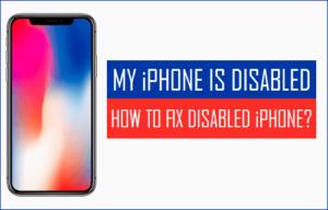 Mi iPhone está desactivado: Cómo arreglar el iPhone desactivado?