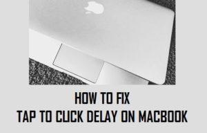 Cómo corregir el problema Puntea para hacer clic en Retardo en el MacBook