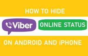 Cómo ocultar el estado de Viber en línea en Android e iPhone