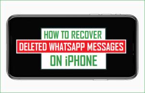 Cómo recuperar los mensajes de WhatsApp eliminados en el iPhone