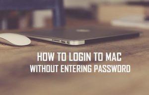 Cómo iniciar sesión en Mac sin introducir la contraseña