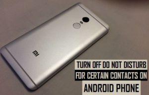 Apagar, no molestar para ciertos contactos en el teléfono Android