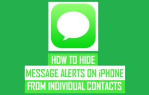 Cómo ocultar las alertas de mensajes en el iPhone de los contactos individuales