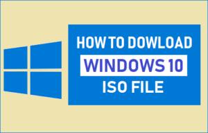 Cómo descargar un archivo ISO de Windows 10