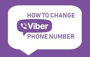 Cómo cambiar el número de teléfono de Viber