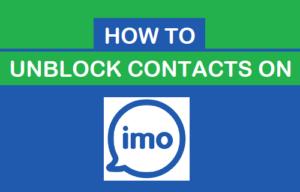 Cómo desbloquear contactos en imo
