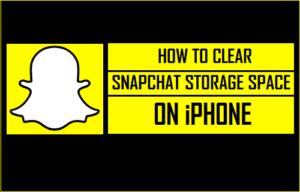 Cómo borrar el espacio de almacenamiento de Snapchat en el iPhone