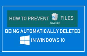 Cómo evitar que los archivos de la papelera de reciclaje se eliminen automáticamente en Windows 10