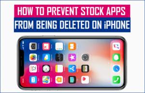 Cómo evitar que las aplicaciones de stock se eliminen en el iPhone