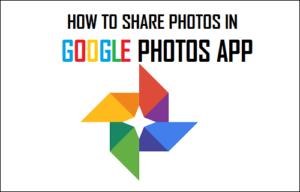 Cómo compartir fotos en Google Photos App