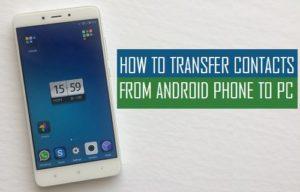 Cómo transferir contactos del teléfono Android al PC