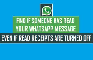 Averigüe si alguien ha leído su mensaje de WhatsApp – Incluso si los recibos de lectura están desactivados