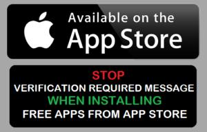 Mensaje de Stop Verification Required cuando instale aplicaciones gratuitas