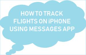 Cómo realizar el seguimiento de vuelos en el iPhone utilizando la aplicación Mensajes