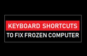 Atajos de teclado para arreglar ordenador congelado