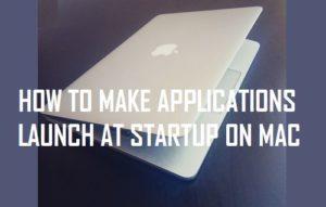 Cómo hacer que las aplicaciones se inicien al iniciar en Mac