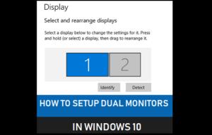 Cómo configurar monitores dobles en Windows 10