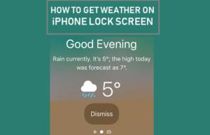 Cómo obtener el tiempo en la pantalla de bloqueo del iPhone