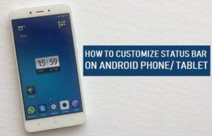 Cómo personalizar la barra de estado en un teléfono Android o Tablet PC