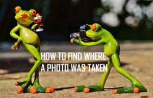 Cómo encontrar el lugar donde se tomó la foto