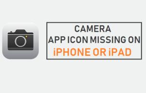 Falta el icono de la aplicación de la cámara en el iPhone o iPad