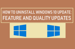 Cómo desinstalar Windows 10 Update
