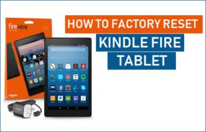 Cómo restablecer de fábrica la tableta de fuego del eje del Kindle