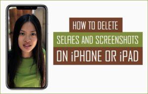 Cómo eliminar selecciones y capturas de pantalla en iPhone o iPad