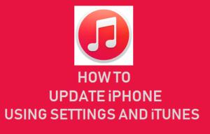Cómo actualizar el iPhone usando la configuración e iTunes