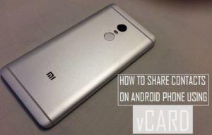 Cómo compartir contactos en un teléfono Android utilizando vCard