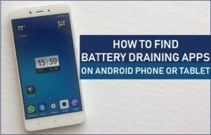 Cómo encontrar aplicaciones que agotan la batería en teléfonos Android o tabletas