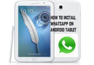 Cómo utilizar WhatsApp en Android Tablet