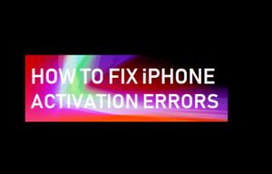 Cómo corregir errores de activación del iPhone